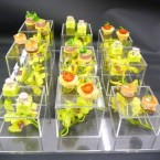 staggered canape tray