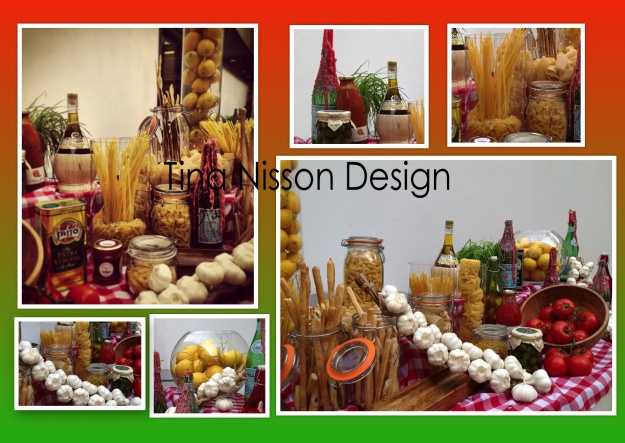 Italian theme food station