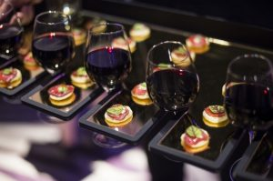 Gold canape tray