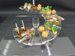 perspex canape tray