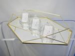 Geometric gold mirror tray / riser