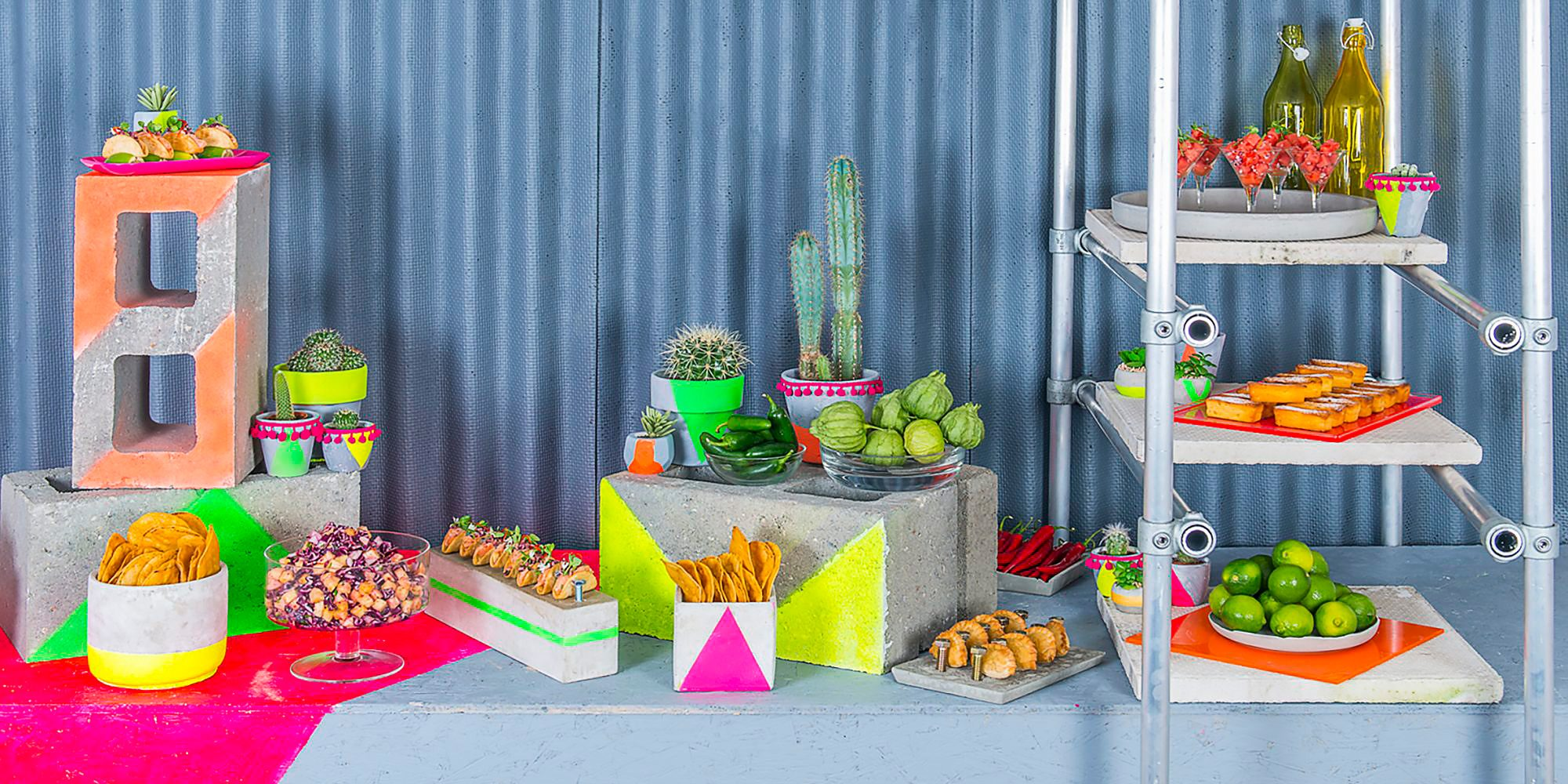 Tina Nisson Design Hire Mexican food station
